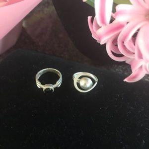 Vintage sterling rings,
